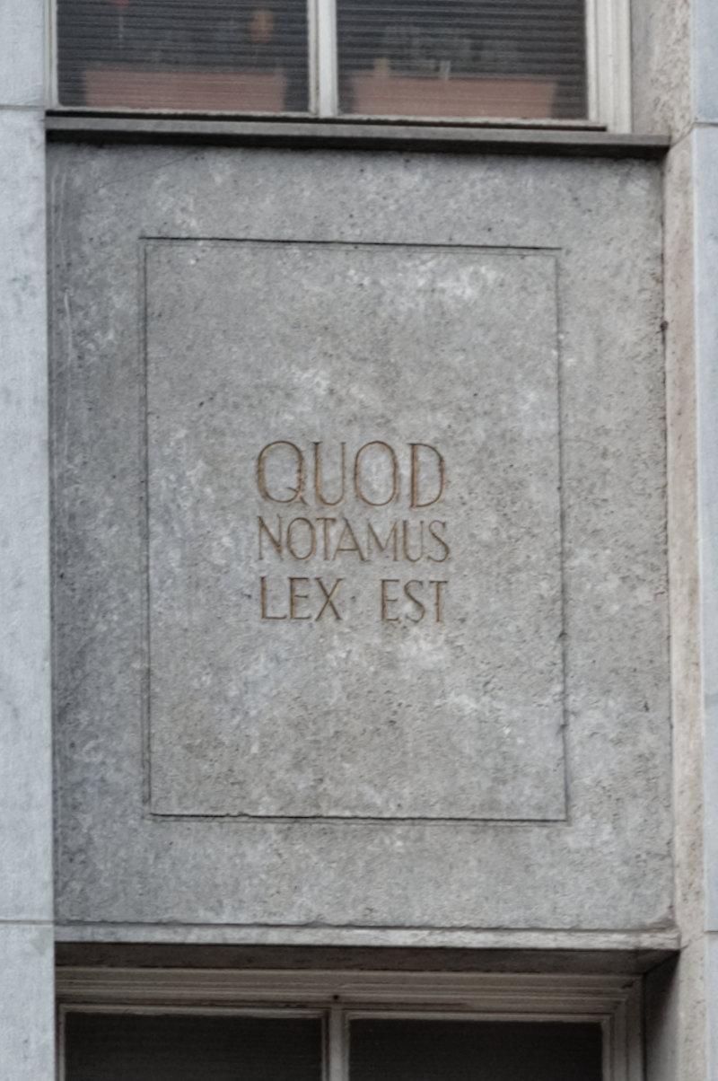 Quod Notamus Lex Est